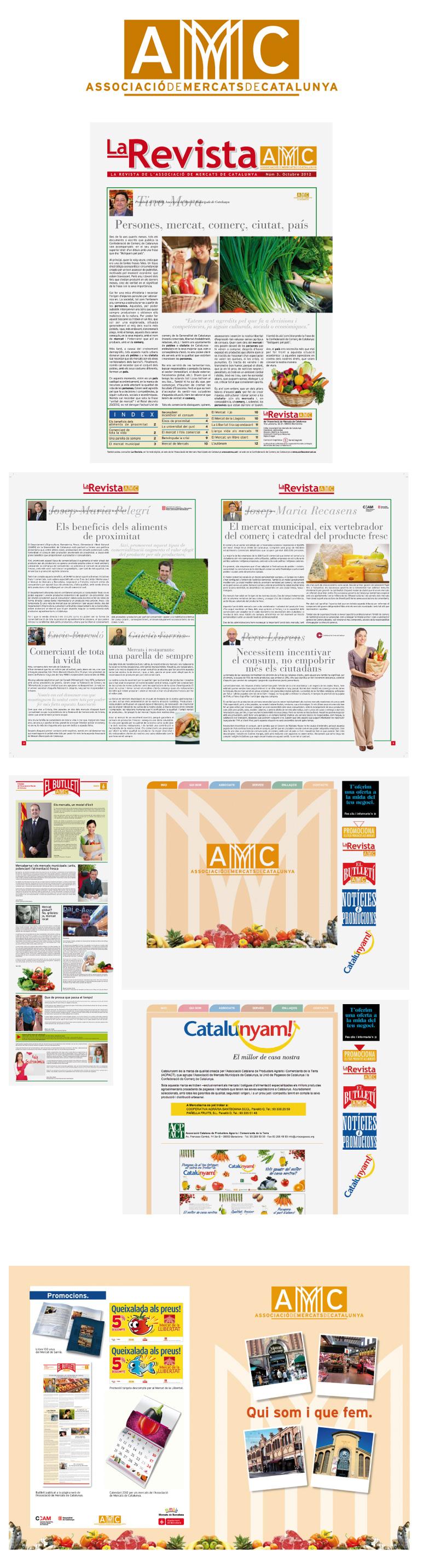 Logotipo, revistas y carteles de la AMMC