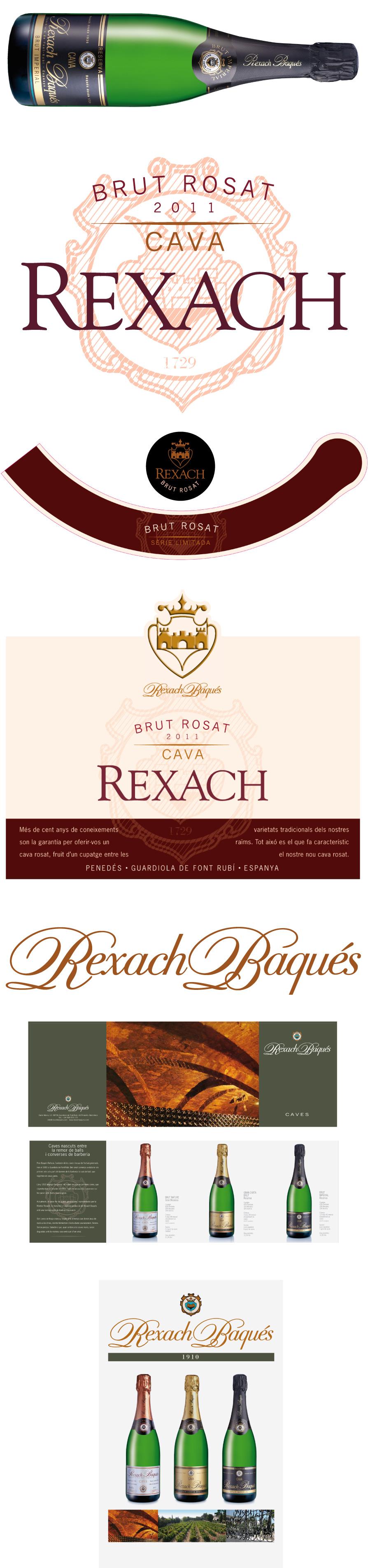 Logotipo y packaging de Caves Rexach
