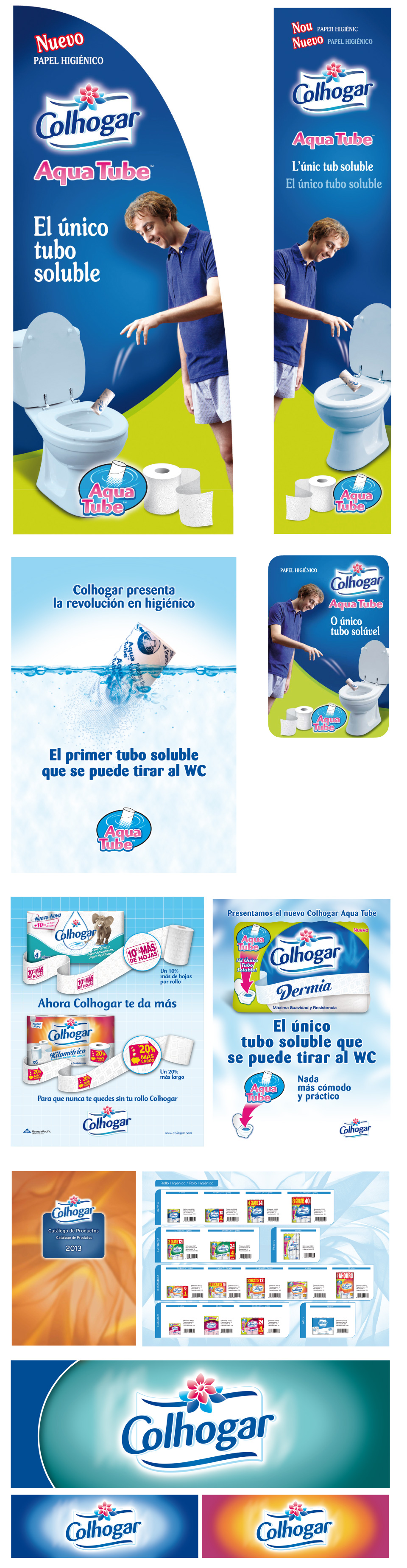 Logotipos y packaging de Colhogar
