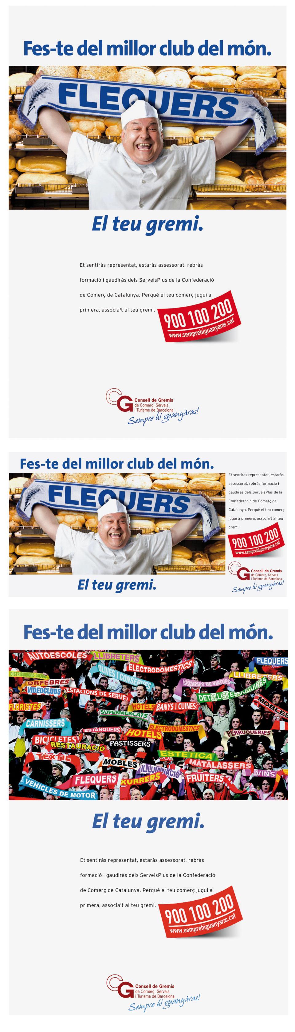 Logotipos, trípticos y packaging de la Campanya Gremis