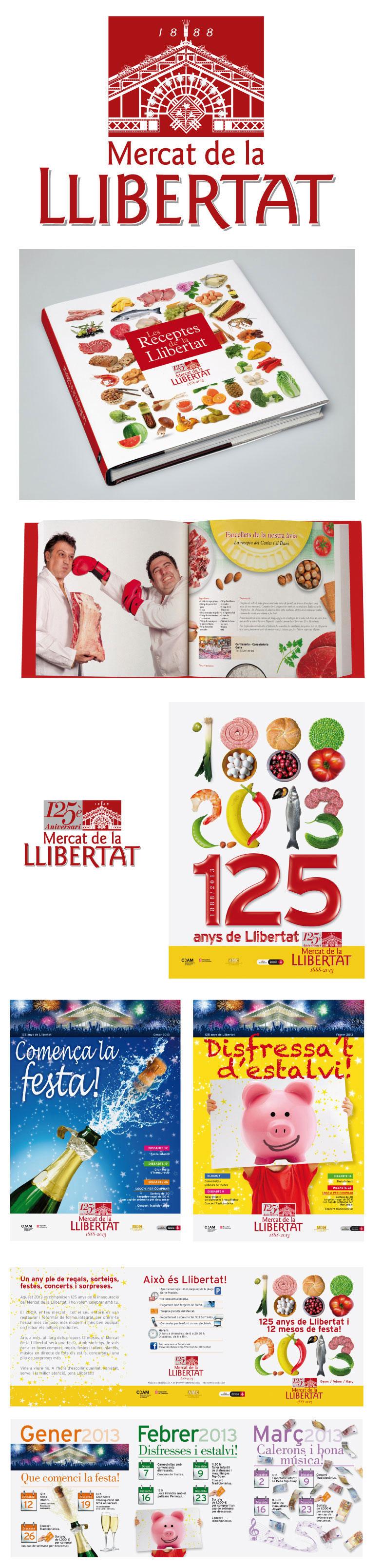 Logotipos y carteles del Mercat de la Llibertat
